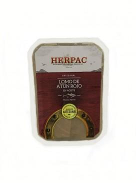 Lomo de atún rojo cocido en aceite Herpac 250 g