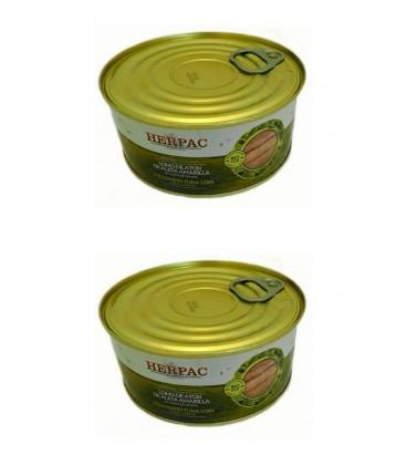 Lomo de atún de aleta amarilla en aceite de girasol Herpac 1015 g (2 uds)