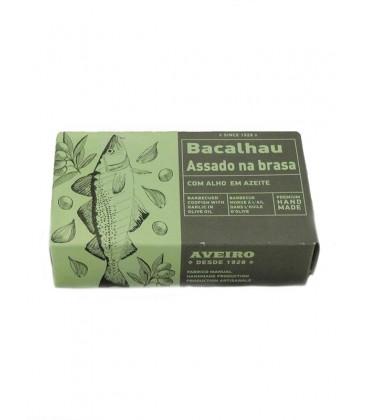 Bacalao asado a la brasa con ajo en aceite de oliva Aveiro 120 g