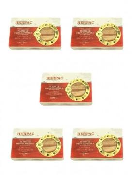 Filetes de melva canutera en aceite de oliva Herpac 120 g (Pack 5 latas)