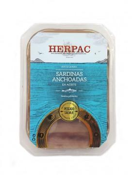 Sardinas anchoadas en aceite Herpac 300 g