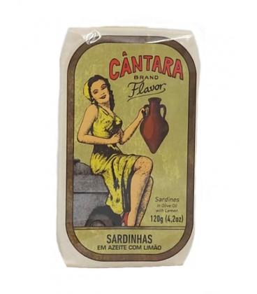Sardinas en aceite de oliva con limón Cántara 120 g