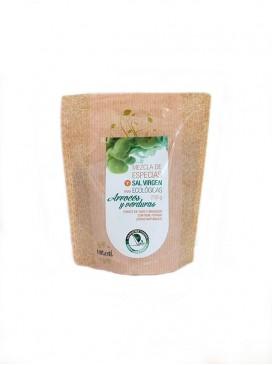 Mezcla de especias y sal virgen eco para arroces y verduras Salina San Vicente 250 g