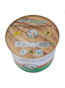 Filetes de caballa de Andalucía IGP en aceite de girasol Reina del Guadiana 1800 g