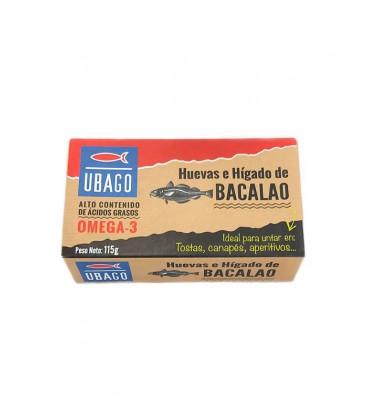 Huevas e hígado de bacalao Ubago 115 g