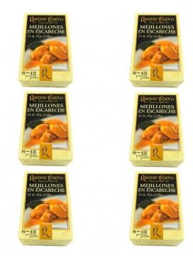 Mejillón grande en escabeche Ramón Franco (8-12 uds.) 115 g (Pack 6 latas)