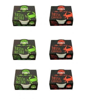 Pack 3 paté de centollo y 3 paté de nécora A Perla Illes Cíes (80 g x 3)