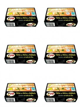 Filetes de Melva canutera de Andalucía IGP en aceite de oliva Lola 125 g (Pack 6 latas)