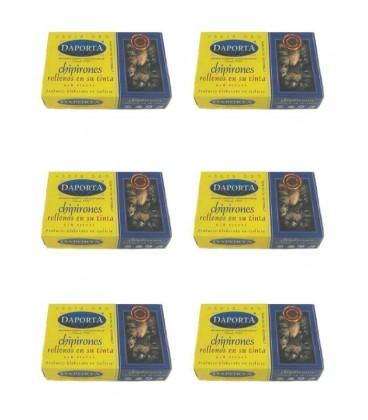 Chipirones rellenos en su tinta (6-8 uds) Daporta 120 g (Pack 6 latas)