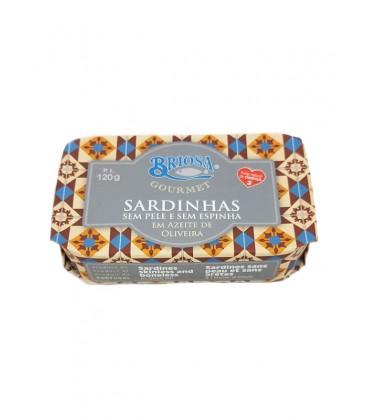 Sardinas sin piel y sin espina en aceite de oliva Briosa Gourmet 120 g