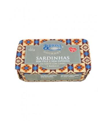 Sardina sin piel y sin espna en aceite de oliva, limon y albahaca Briosa Gourmet 120 g