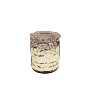 Ventresca de atún con pimientos en aceite de oliva El Ronqueo 250 g