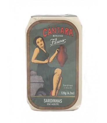 Sardinas en aceite de oliva Cántara 120 g