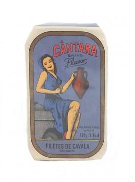 Filetes de caballa en aceite de oliva Cántara 120 g