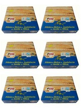 Filetes de melva de Andalucía IGP en aceite de oliva Lola 280 g (Pack 6 latas)
