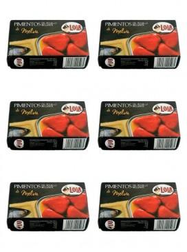 Pimientos del piquillo rellenos de melva Lola 115 g (Pack 6 latas)