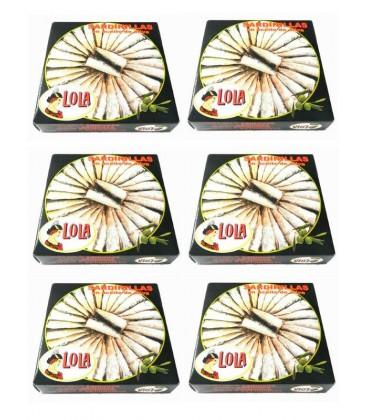 Sardinillas en aceite de oliva Lola (40-50 ud) 280 g (Pack 6 latas)