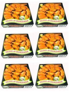 Mejillones en escabeche Reina del Guadiana (12-15 uds.) 280 g (Pack 6 latas)