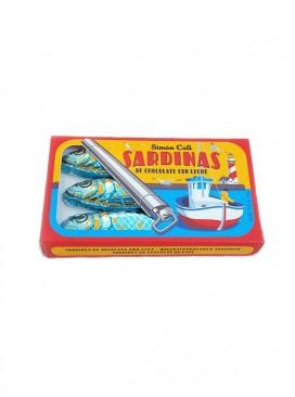 Lata de sardinas de chocolate con leche Simon Coll 24 g