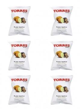 Patatas fritas premium con trufa negra Torres 40 g (Pack 6 ud)
