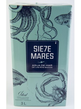 Agua pura de mar Siete Mares 3 L