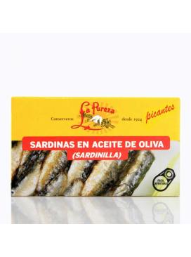 Sardinillas picantes en aceite de oliva La Pureza (14-15 uds) 115g