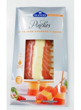 Banderillas de salmón ahumado con queso Skandia 80 g