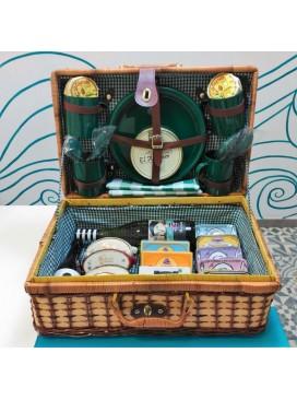 Cesta de picnic de mimbre 4 servicios