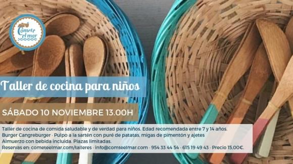 Taller de cocina para niños 10 noviembre 2018 · 13.00h