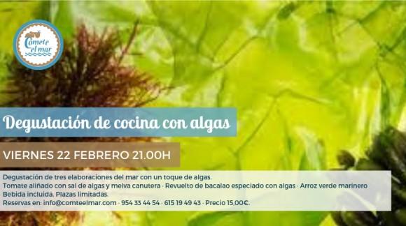Degustación de cocina con algas · Viernes 22 febrero 21.00h