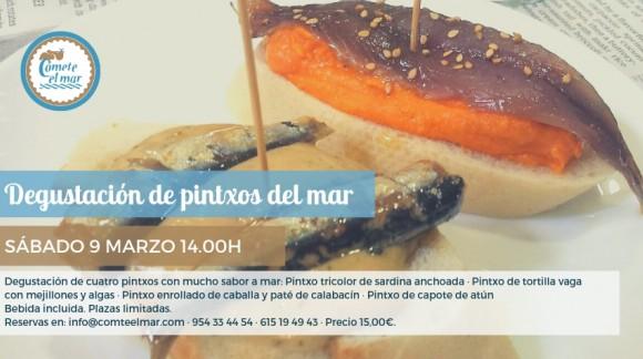 Degustación de pintxos del mar · Sábado 9 marzo 14.00h