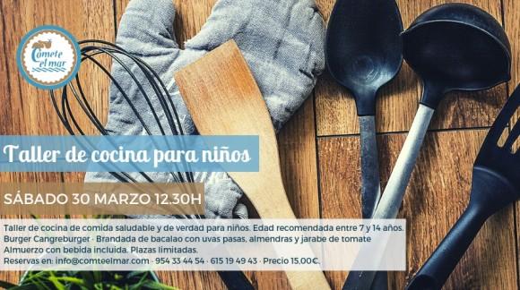 Taller de cocina para niños · Sábado 30 marzo 2019 12.30h
