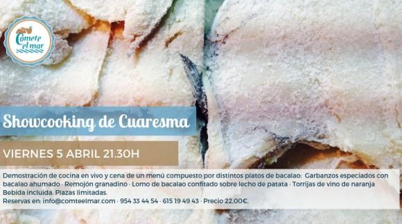 Showcooking de Cuaresma (con bacalao) · Viernes 5 abril 2019 21.30h